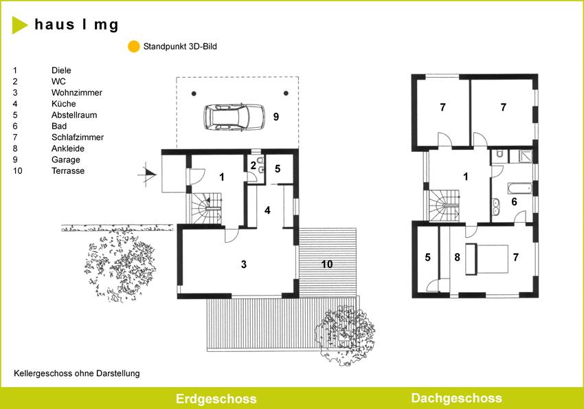 Grundriss einfamilienhaus schlafzimmer im erdgeschoss  Junge Häuser - Gerlach Bau GmbH
